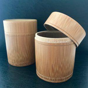 B008 Boite hermétique en bambou pou conserver le thé le café ou les épices