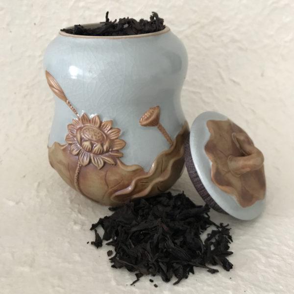Boite à thé et thé de rocaille 2018