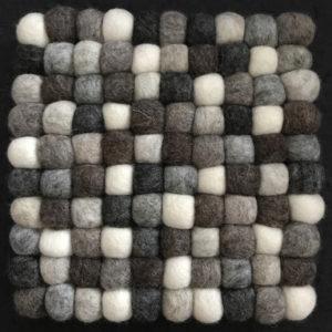 Dessous de plat en perles de laine du Népal N036