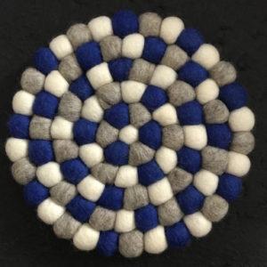 Dessous de plat en perles de laine du Népal N039