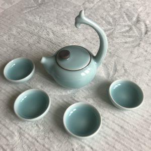 A001 Théière céladon porcelaine Chine