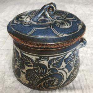 A002 Pot à thé grès émaillé Saint-Hubert